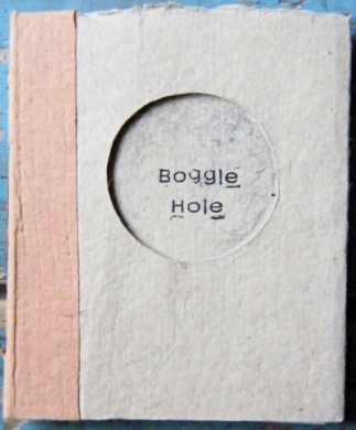Boggle Hole , hand made holiday memeory book.