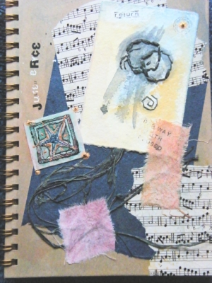 sketchbook front cover collage