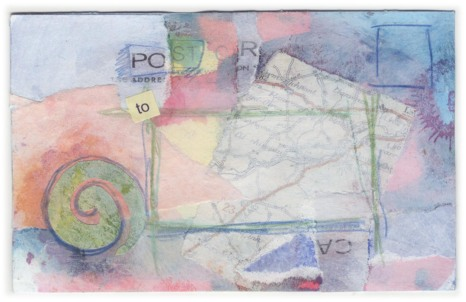 Address Side of Collaged Postcard 'For…'