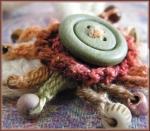 crocheted ponytail holder