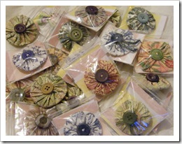 collection Suffolk puff brooches