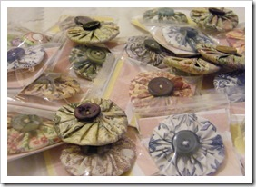 collection v2 Suffolk puff brooches