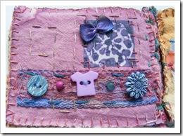 Fabric book lilac tshirtbutton page