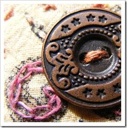Fabric book metal button CU