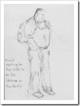 sketch of tourist BLog