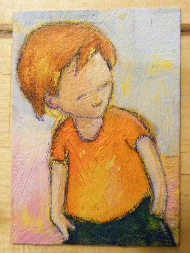 Small boy ACEO acrylics