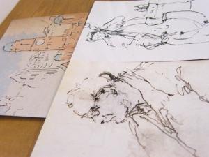 postcards of drawings