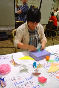 photo of origami demo