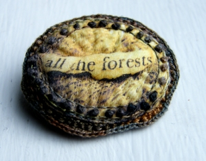 photo of fabric brooch