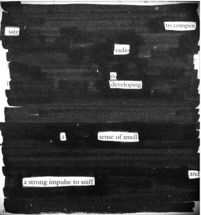 blackout poem Radio