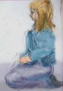 Drawing of a young girl.